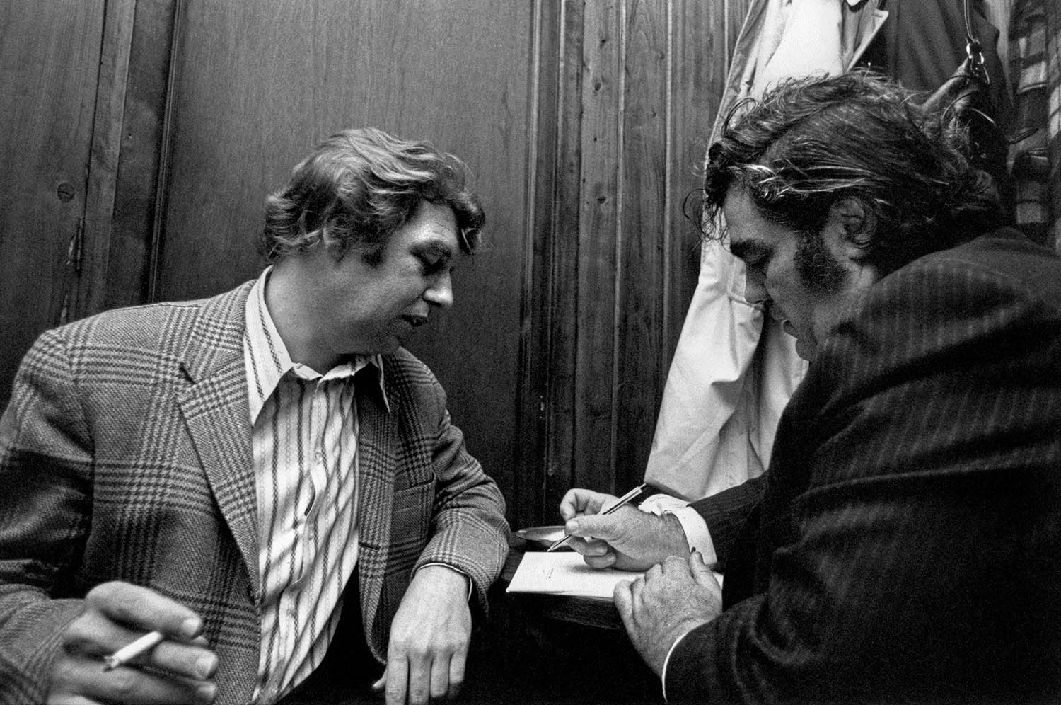 Pete Hamill with Jimmy Breslin